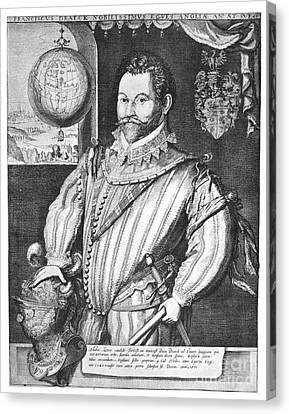 Sir Francis Drake (1540-1596) Canvas Print by Granger