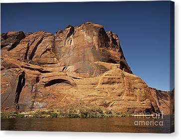 Steep Cliffs Guard The Colorado River Canvas Print by Terry Moore