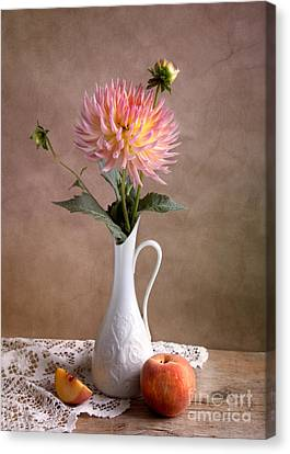 Still Life With Dahila Canvas Print by Nailia Schwarz