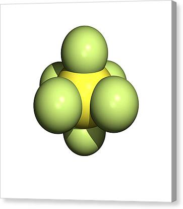 Sulphur Hexafluoride Molecule Canvas Print by Friedrich Saurer