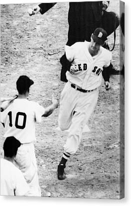 Ted Williams Of The Boston Red Sox Canvas Print by Everett