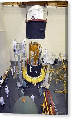 Terrasar-x Satellite Launch Preparations Canvas Print by Ria Novosti