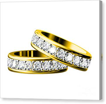 The Beauty Wedding Ring Canvas Print by Rattanapon Muanpimthong