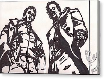The Boondock Saints Canvas Print by Jeremiah Colley