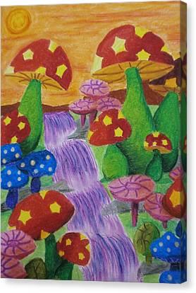 The Enchanted Mushroom Forest Canvas Print by Adam Wai Hou