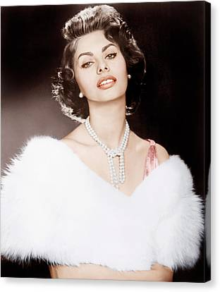 1950s Portraits Canvas Print - The Pride And The Passion, Sophia by Everett