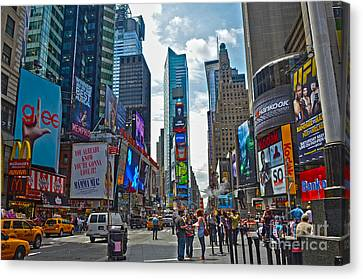 Times Square Canvas Print by Pravine Chester