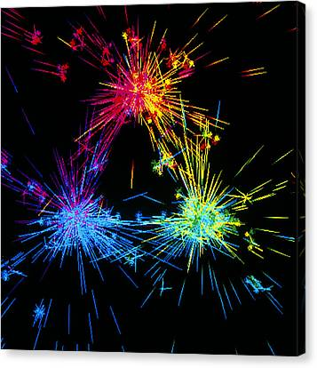 Visualisation Of Quark Structure Of Proton Canvas Print by Arscimed