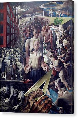 Wpa Mural. Contemporary Justice Canvas Print