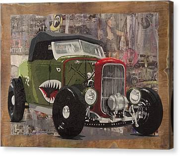32 Ford Roadster Warhawk Canvas Print by Josh Bernstein