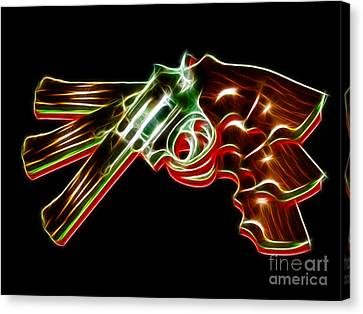 357 Magnum - Electric Canvas Print by Wingsdomain Art and Photography