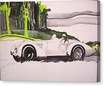 Canvas Print featuring the painting 36 Alfa  by Richard Willows