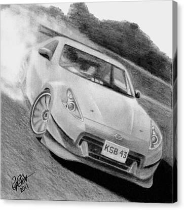 370z Fairlady Drift Canvas Print