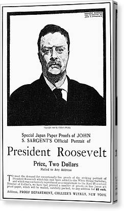 Collier Canvas Print - Theodore Roosevelt by Granger