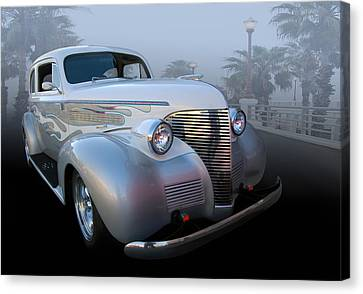 39 Chev Deluxe Canvas Print by Bill Dutting