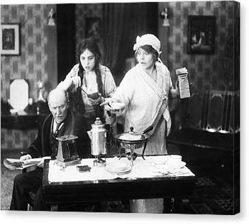 Film Still: Eating & Drinking Canvas Print by Granger