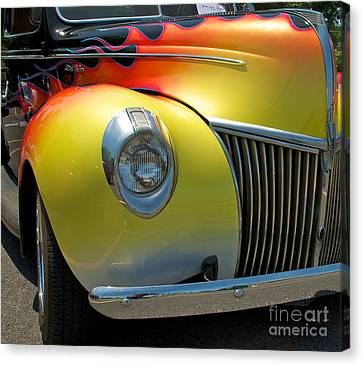 39 Ford Deluxe Hot Rod 3 Canvas Print by Mark Dodd