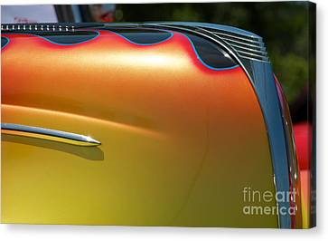 39 Ford Deluxe Hot Rod Ornament 2 Canvas Print by Mark Dodd