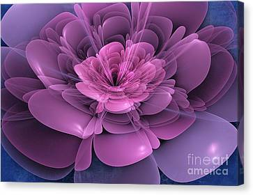 3d Flower Canvas Print by John Edwards