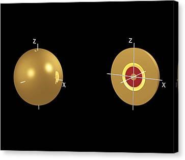 Electron Orbital Canvas Print - 3s Electron Orbital by Dr Mark J. Winter