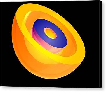 Electron Orbital Canvas Print - 3s Electron Orbital by Laguna Design