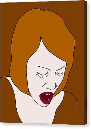 A Woman Canvas Print by Frank Tschakert
