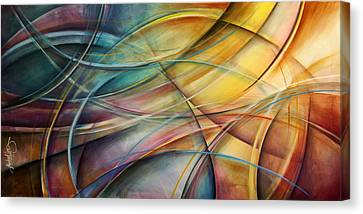 Random Shape Canvas Print - Abstract  by Michael Lang