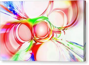 Abstract Of Circle  Canvas Print by Setsiri Silapasuwanchai