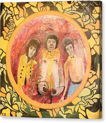 Canvas Print featuring the painting Are You Experienced. by Ken Zabel