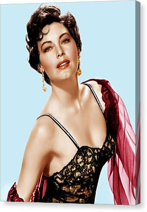 Ava Gardner, Ca. 1950s Canvas Print by Everett