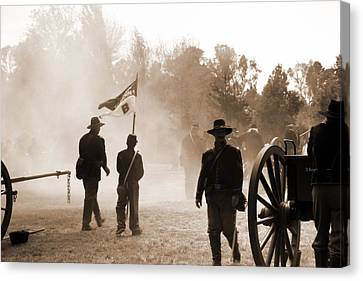 Battle Ground Canvas Print by Pristine Cartera Turkus