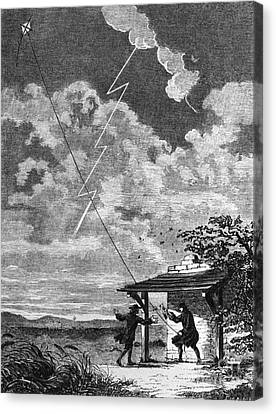 Benjamin Franklin, American Polymath Canvas Print by Science Source