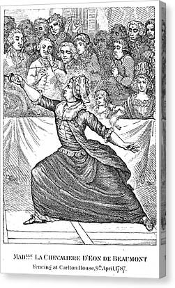 Charles Deon De Beaumont Canvas Print by Granger