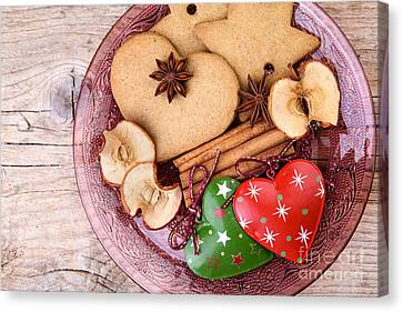 Christmas Gingerbread Canvas Print by Nailia Schwarz
