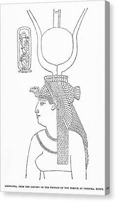 Dendera Canvas Print - Cleopatra Vii (69-30 B.c.) by Granger