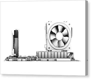 Computer Motherboard, Artwork Canvas Print by Pasieka