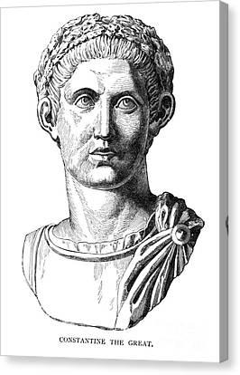 Constantine I (d. 337) Canvas Print by Granger