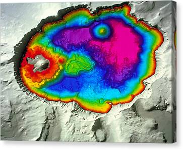 Crater Lake Canvas Print by Us Geological Survey