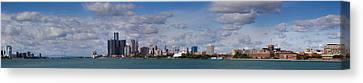 Belle Isle Canvas Print - Detroit Michigan Skyline by Twenty Two North Photography