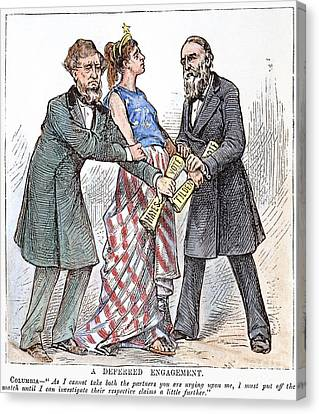 Election Cartoon, 1876 Canvas Print by Granger