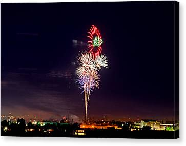 Fireworks Canvas Print by Elijah Weber