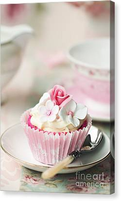 Flower Cupcake Canvas Print