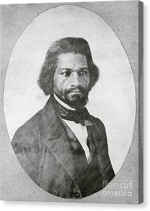 Abolitionist Canvas Print - Frederick Douglass, African-american by Photo Researchers