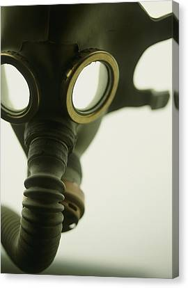 Terrorist Canvas Print - Gas Mask by Lawrence Lawry