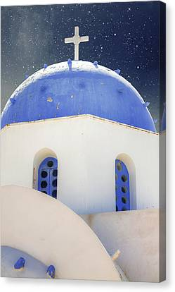 Greek Chapel Canvas Print by Joana Kruse