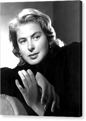 Ingrid Bergman, Portrait Canvas Print by Everett