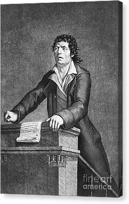Jean-paul Marat (1743-1793) Canvas Print by Granger