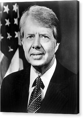 Jimmy Carter Canvas Print by Everett