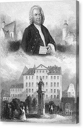 Johann Sebastian Bach Canvas Print by Granger