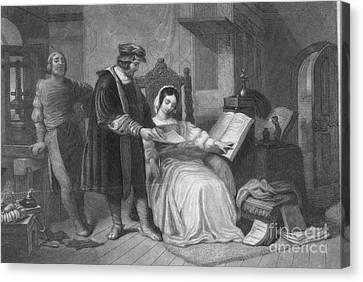 Johannes Gutenberg, German Inventor Canvas Print by Photo Researchers
